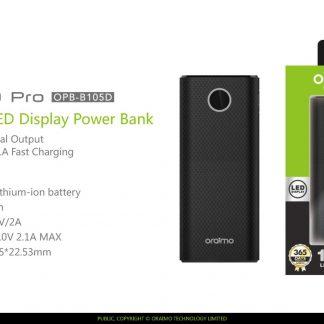 oraimo - Aurora 10 Pro - Powerbank 10000mAh dual USB with LED display, LED  light