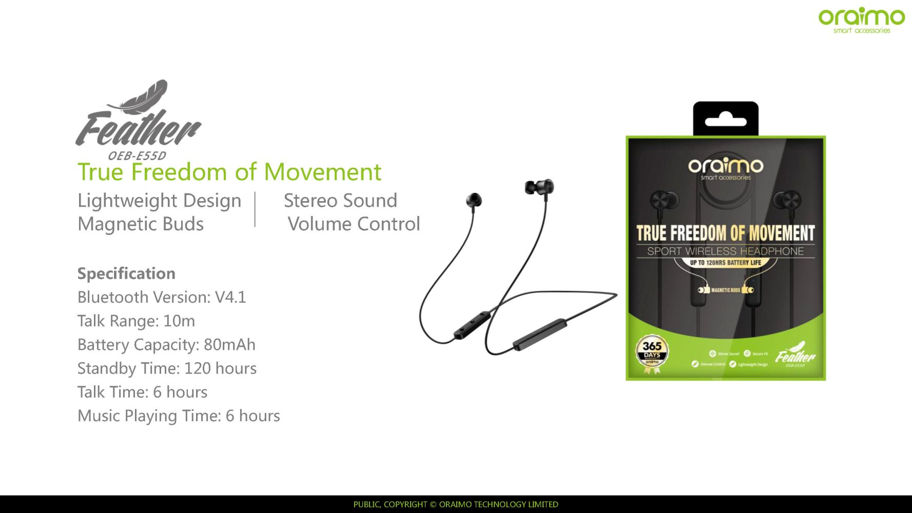 f2e6e60d89d You're viewing: oraimo – Feather – Wireless headset stereo 6 hours music  playing time £ 46.00